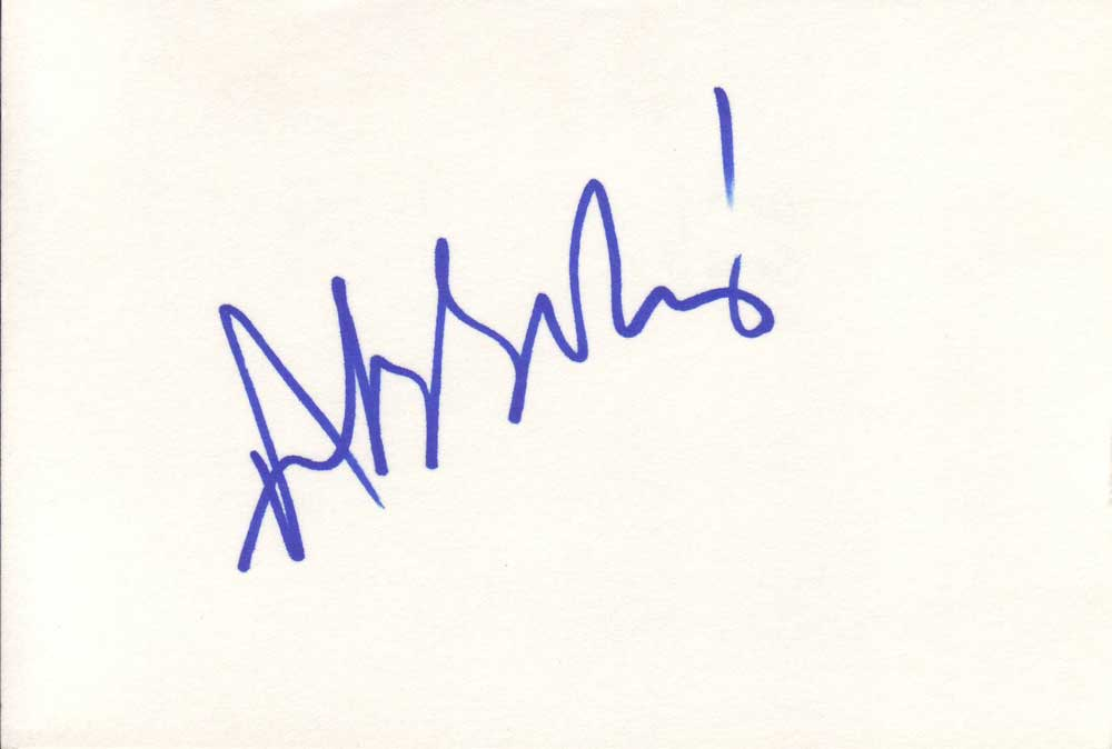 Andy Serkis in-person autographed index card
