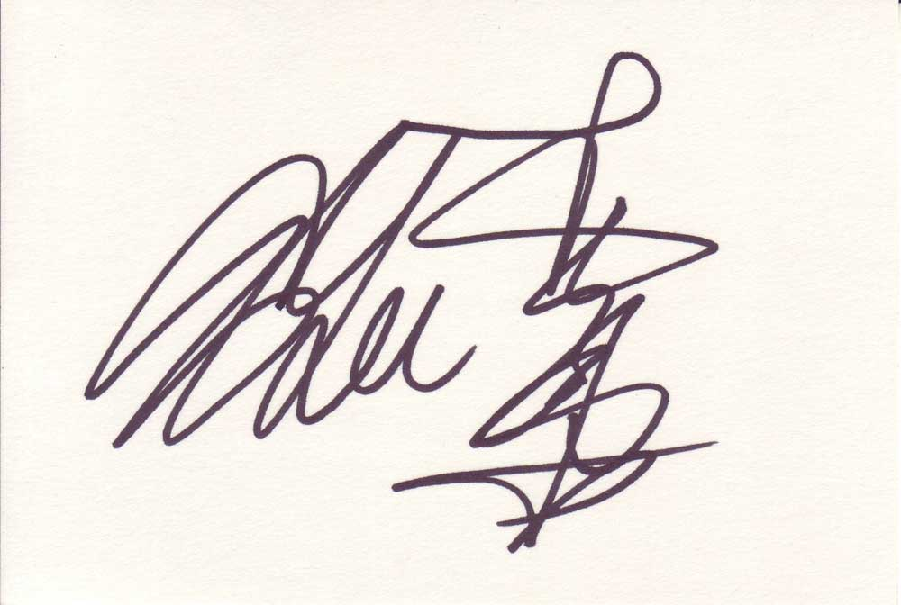 Ang Lee Autographed Index Card