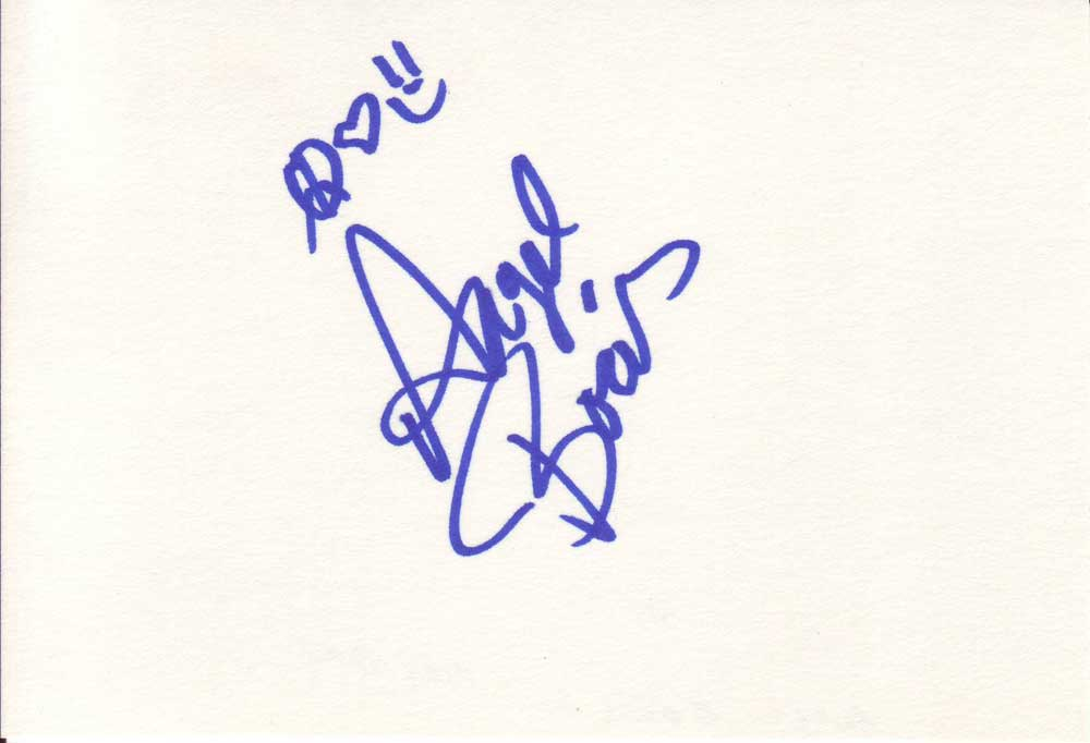 Angel Boris Autographed Index Card