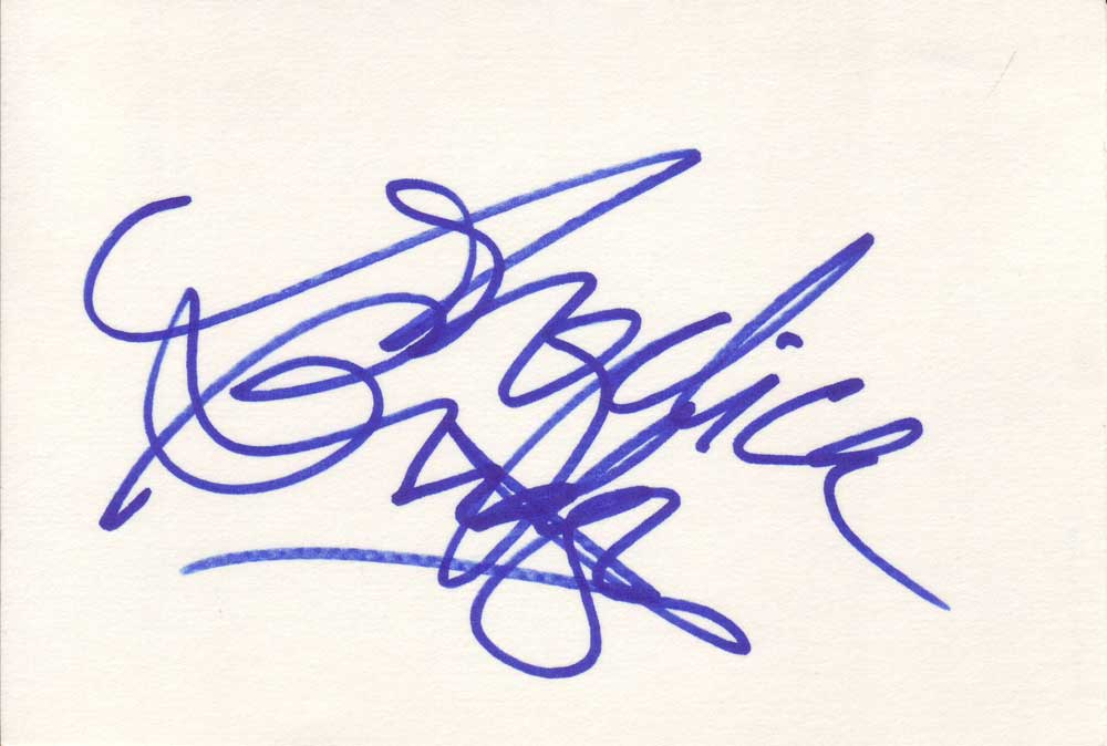 Angelica Bridges Autographed Index Card