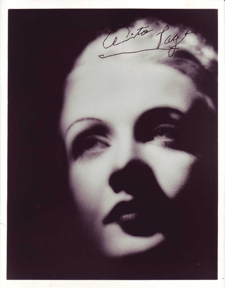Anita Page in-person autographed photo