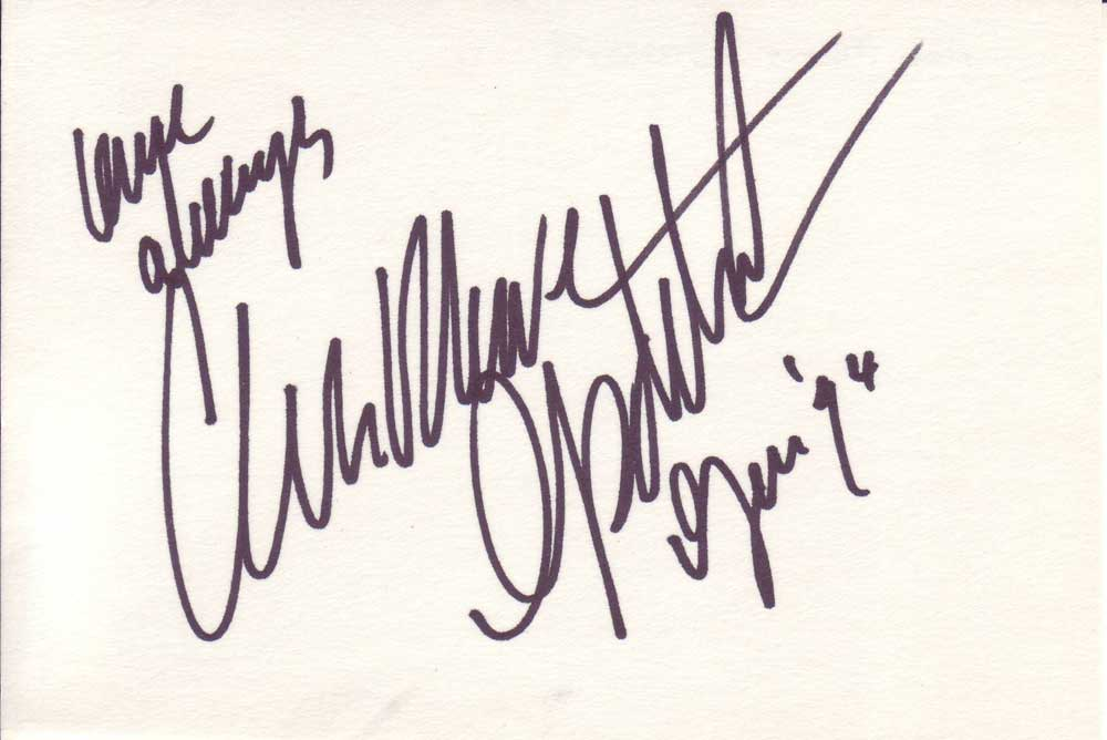 Anna Marie Goddard in-person autographed index card
