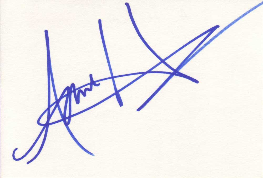 Anne Heche Autographed Index Card