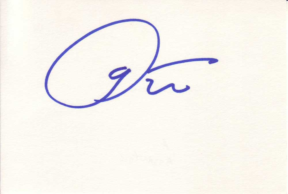Armand Assante Autographed Index Card