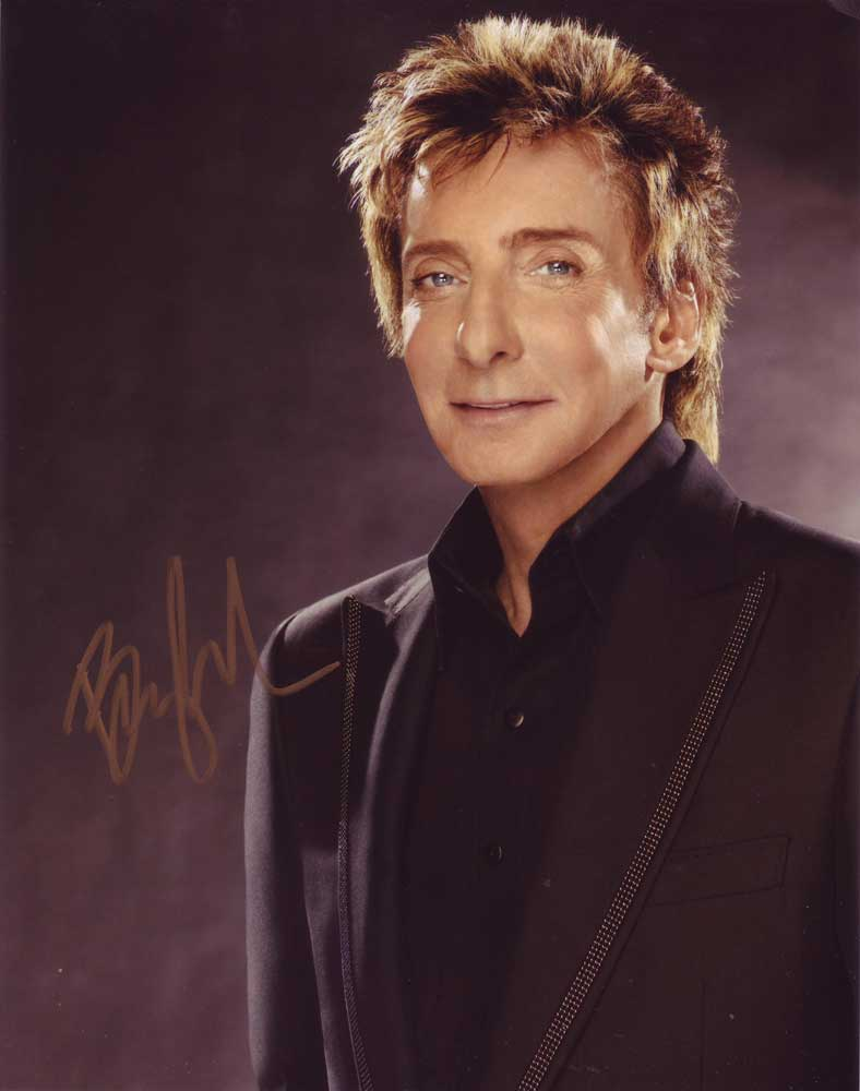 Barry Manilow in-person autographed photo