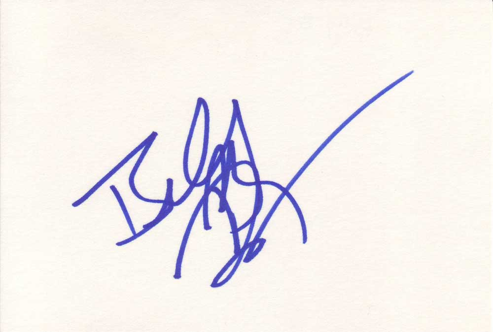 Billy Bob Thornton Autographed Index Card