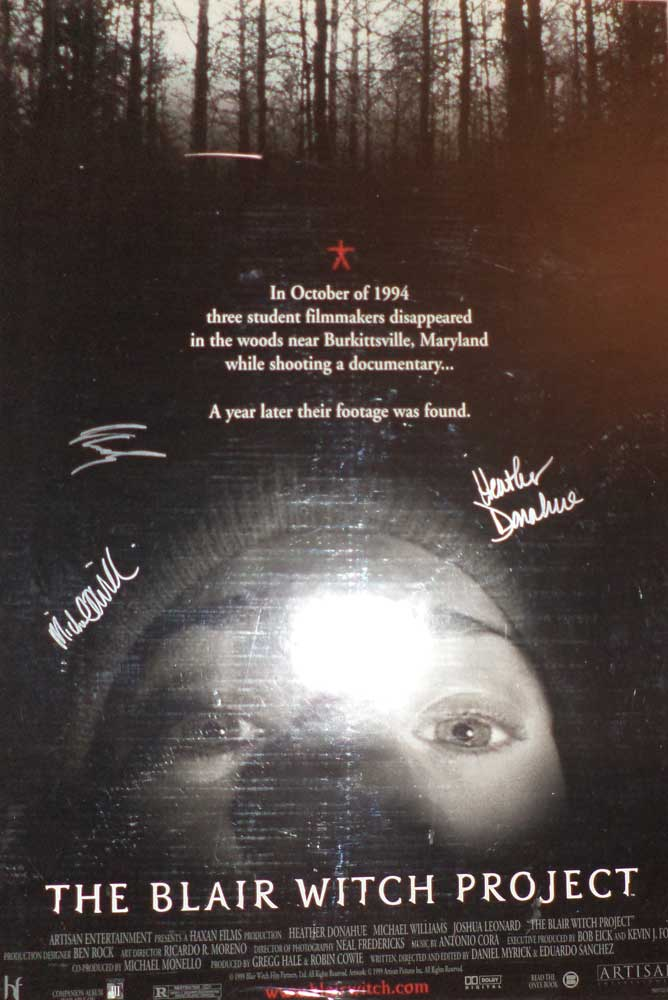 Blair Witch Project in-person autographed Poster