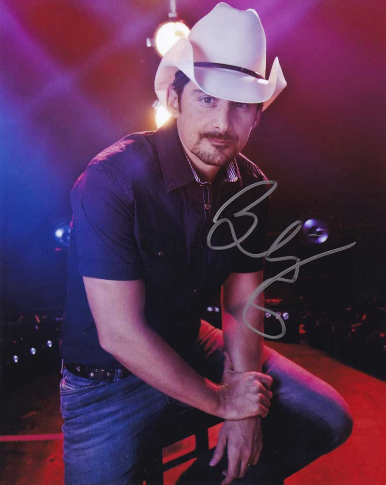Brad Paisley In-person Autographed Photo