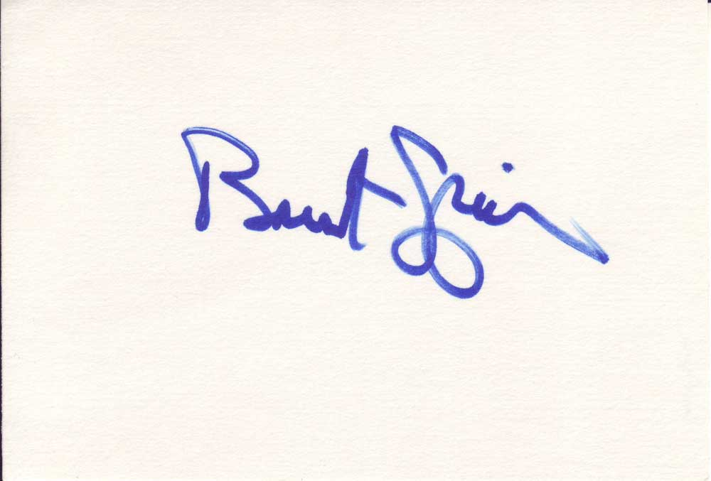 Brent Spiner Autographed Index Card