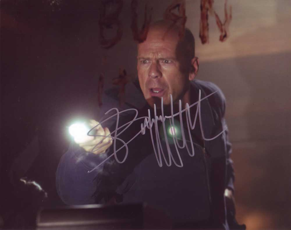 Bruce Willis in-person autographed photo