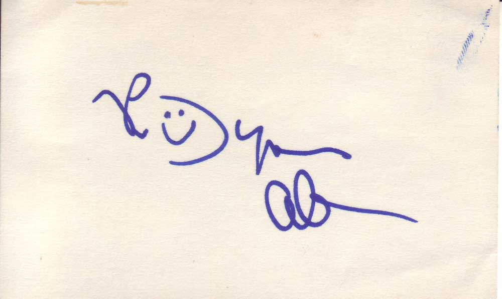 Byron Allen Autographed 3x5 Index Card