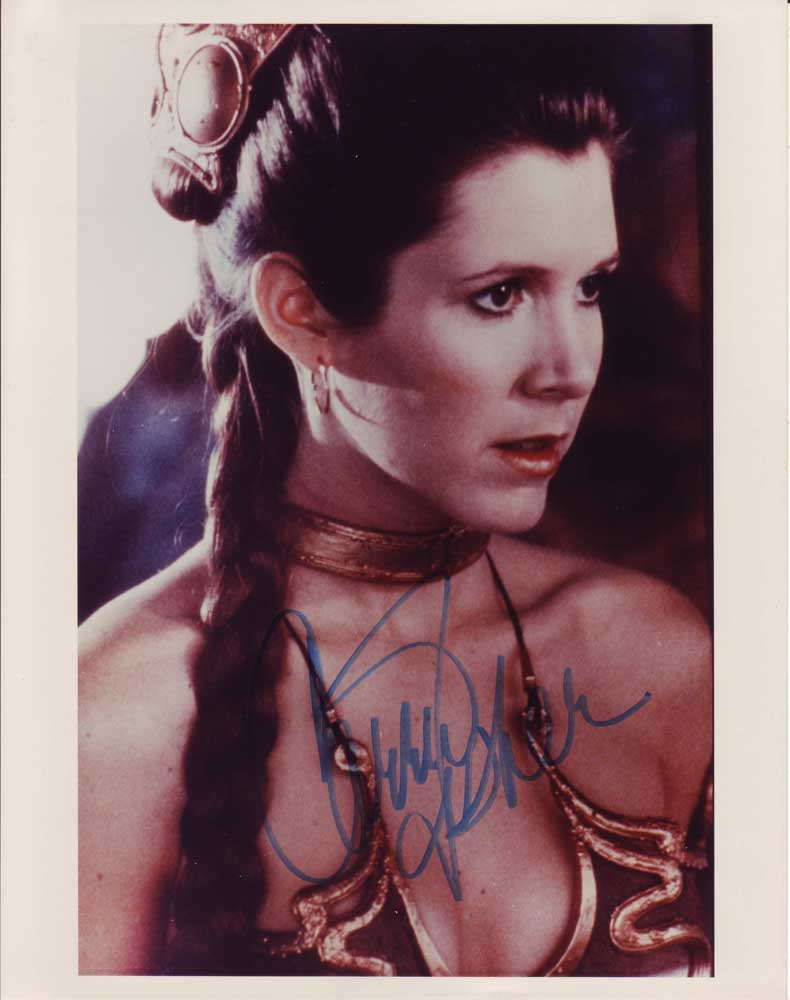 Carrie Fisher In-person autographed photo