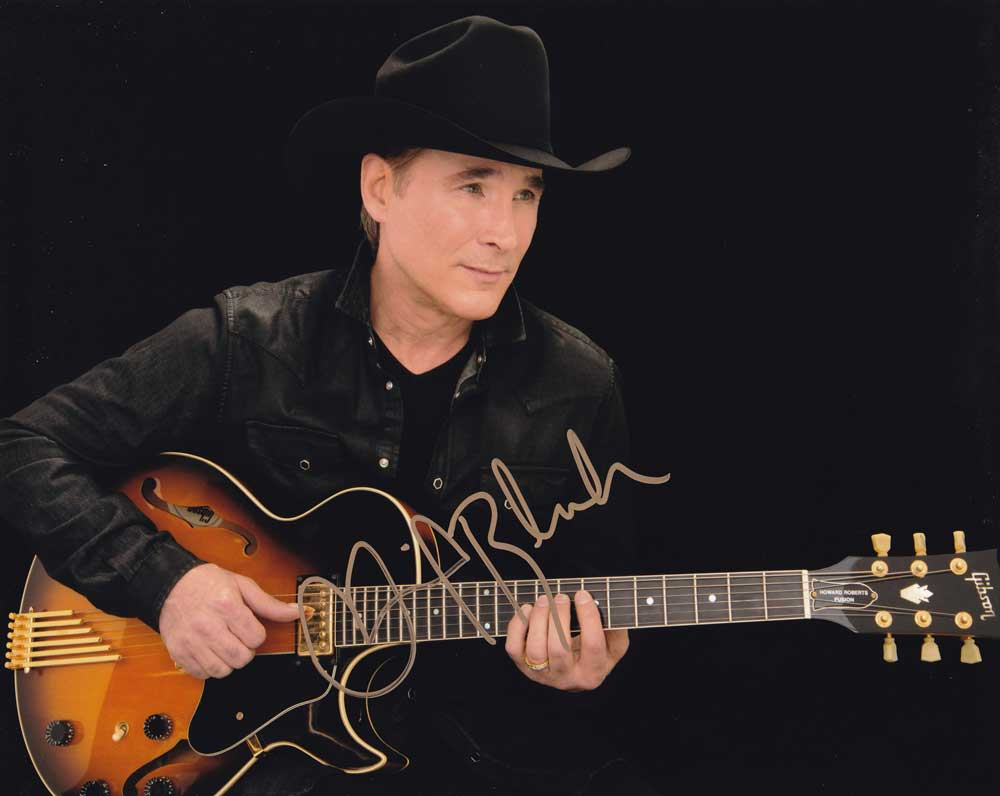 Clint Black in-person autographed photo