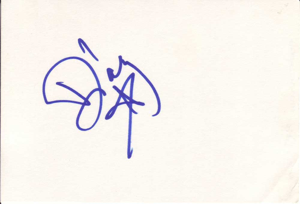 Darcy Autographed Index Card