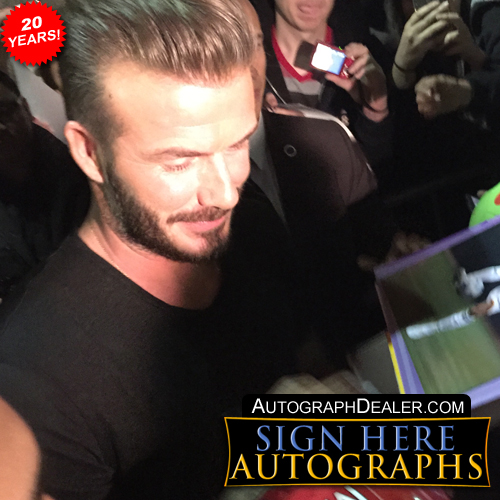 David Beckham in-person autographed photo