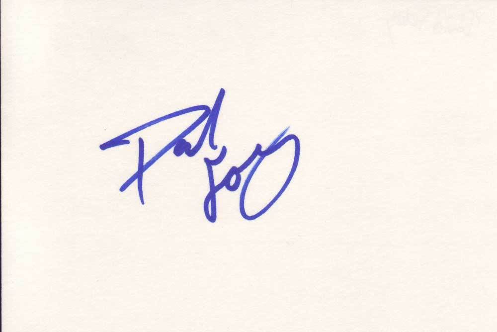 Dave Foley Autographed Index Card