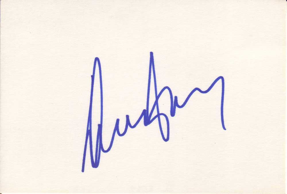 Diana Ross Autographed Index Card