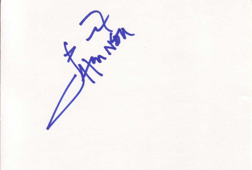 Djimon Hounsou Autographed Index Card
