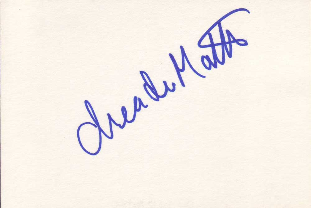 Drea de Matteo Autographed Index Card