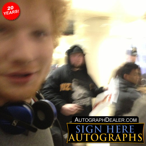 Ed Sheeran In-person Autographed Photo