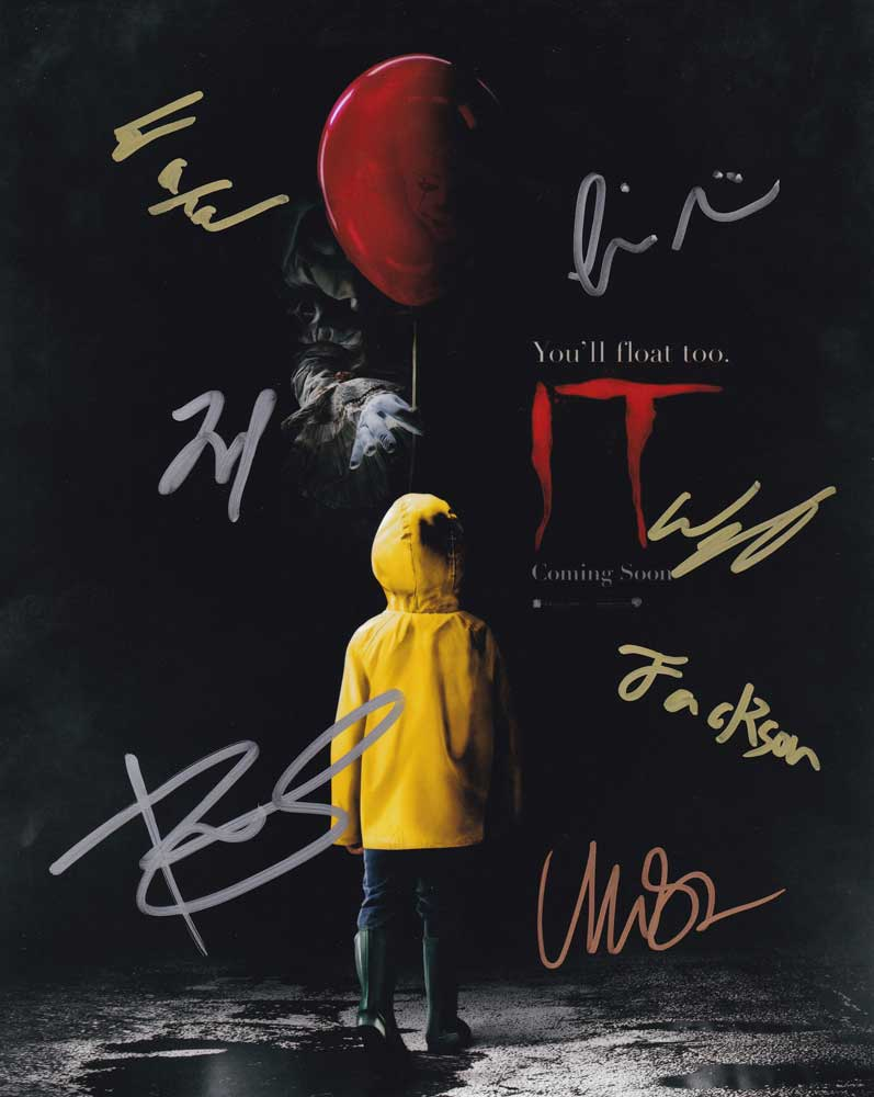 IT In-person autographed Cast photo Signed by 7