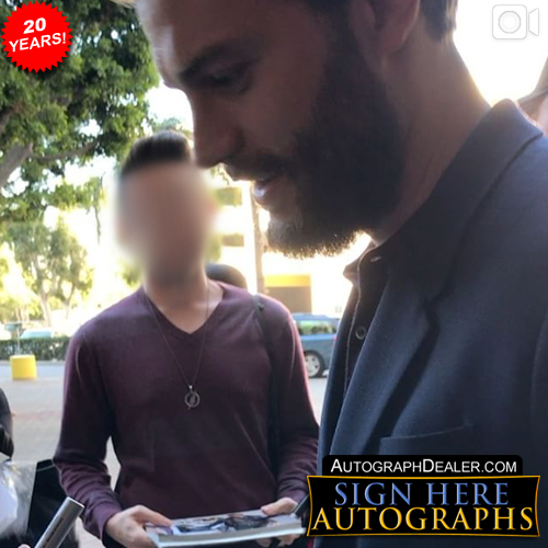 Jamie Dornan In-person Autographed Photo