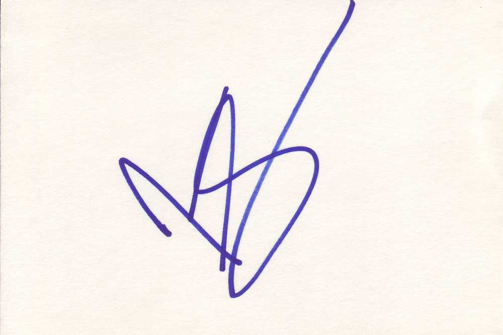 Jason Schwartzman Autographed Index Card