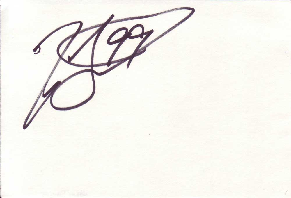 Jason Taylor Autographed Index Card