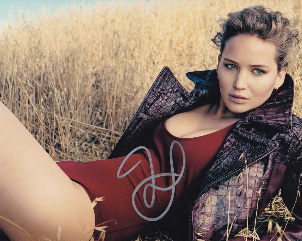 Jennifer Lawrence in-person autographed photo