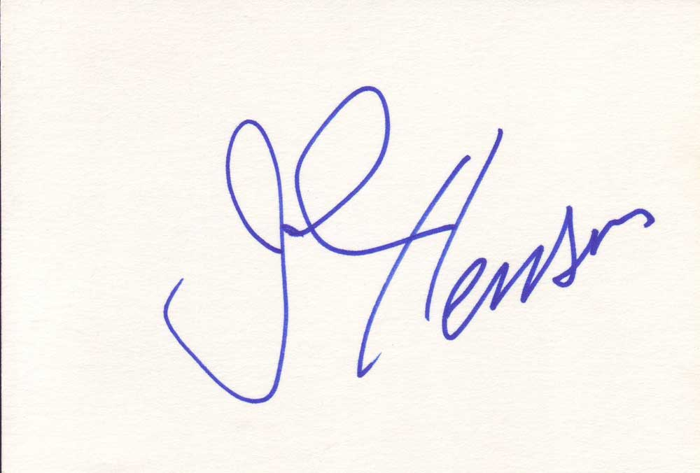 John Henson Autographed Index Card