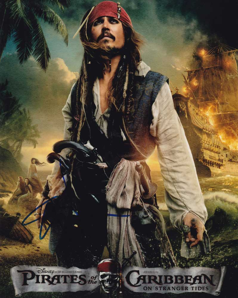 Johnny Depp in-person autographed photo