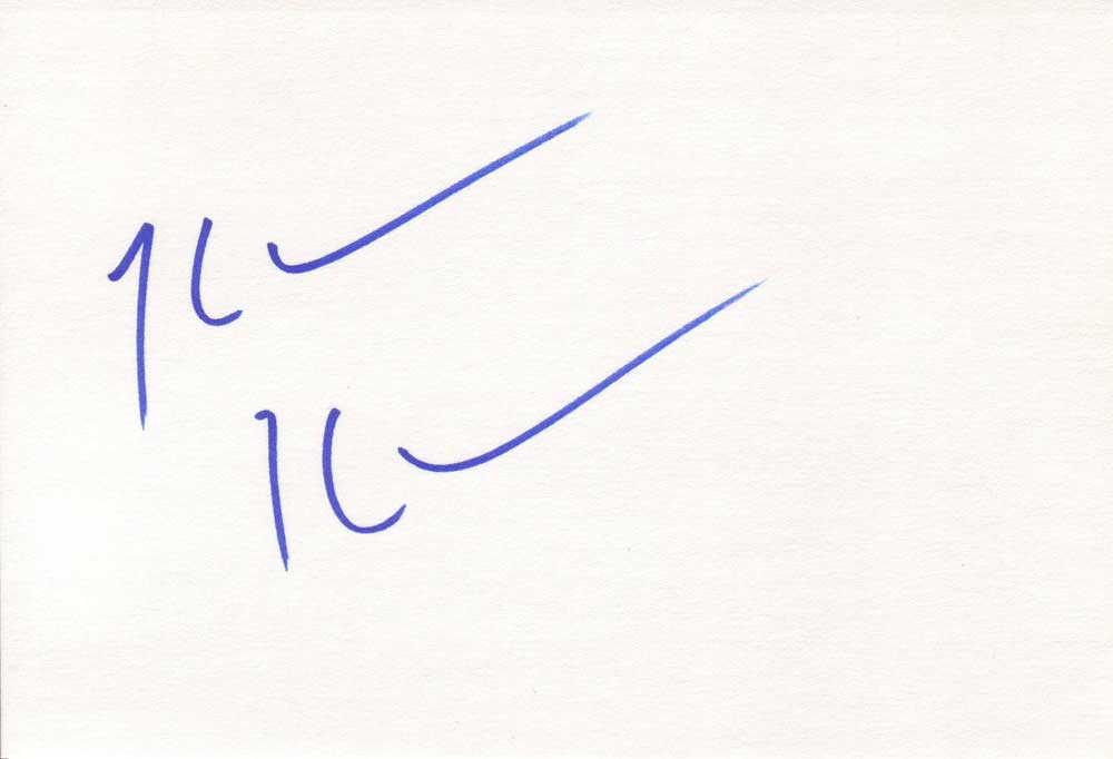 Kevin Kline Autographed Index Card