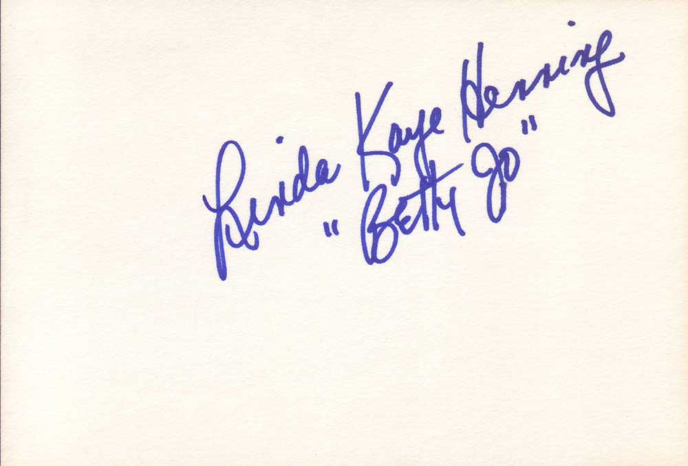 Linda Henning Autographed Index Card