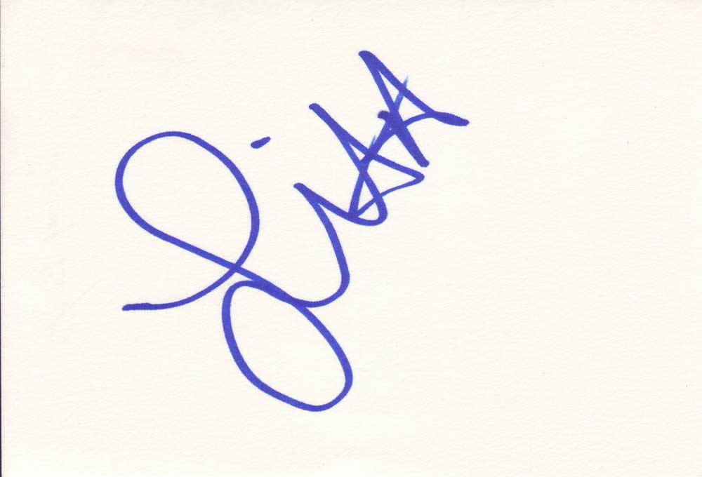 Amy Dumas 'Lita' in-person autographed index card