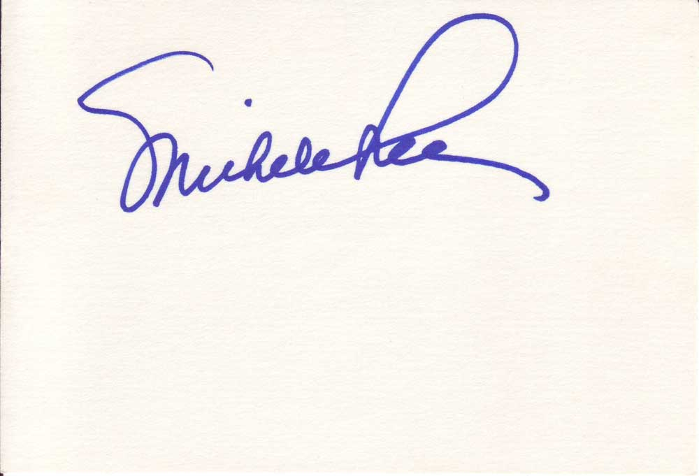 Michele Lee Autographed Index Card