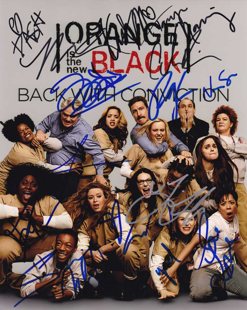 Orange Is the New Black In-person autographed Cast Photo by 15