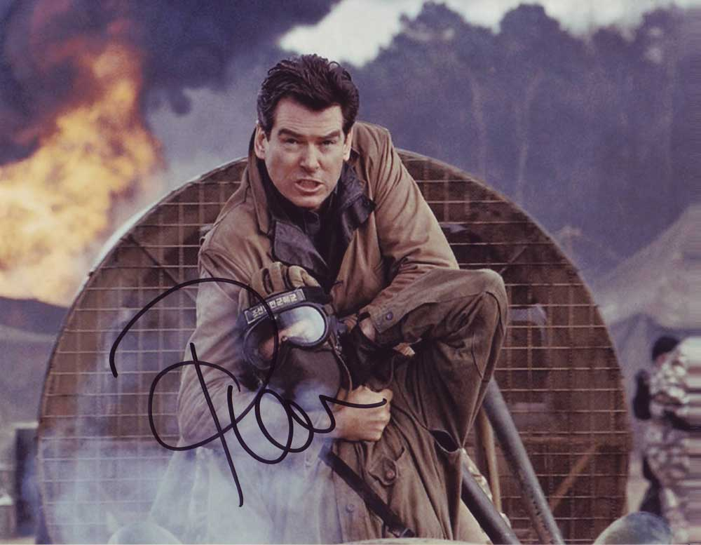 Pierce Brosnan in-person autographed photo