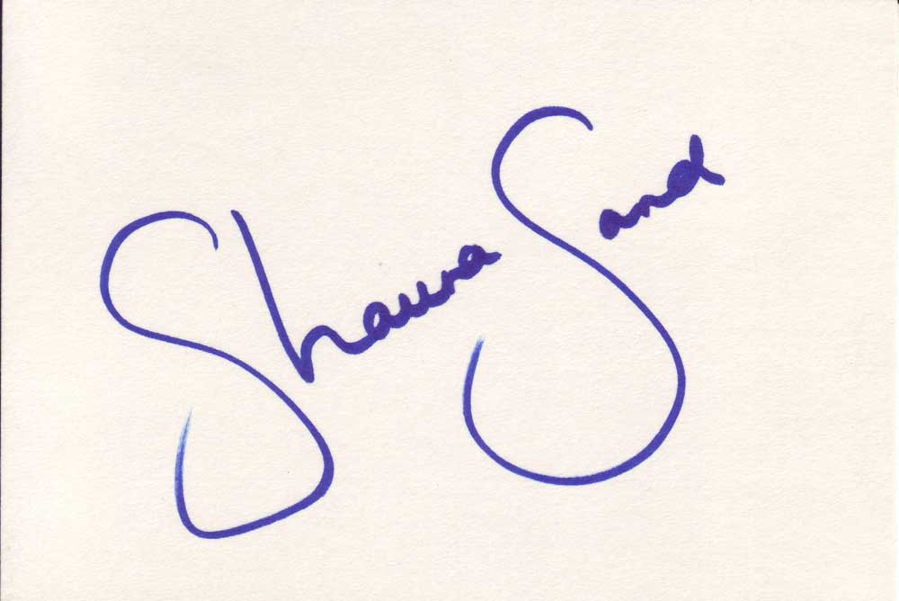 Shauna Sand Autographed Index Card