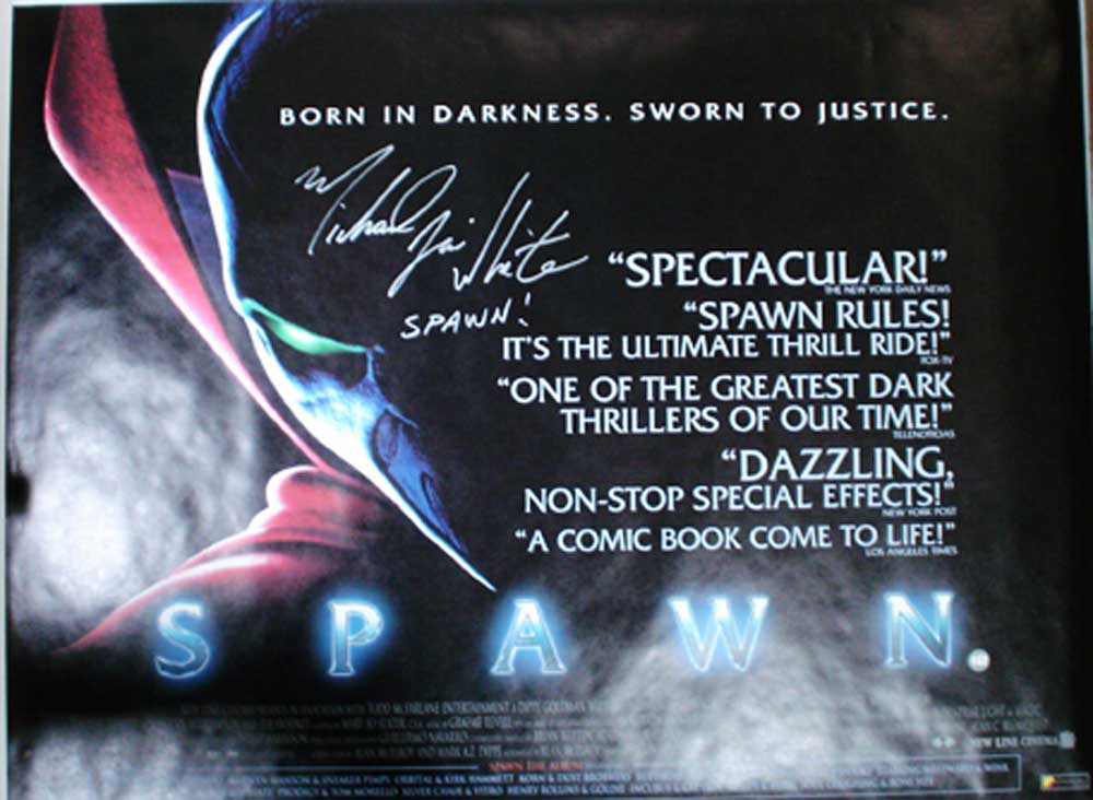 Spawn in-person autographed 30 x 40 poster